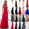 Women Long Lace Evening Formal Cocktail Party Ball Gown Bridesmaid Maxi Dress