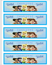 PERSONALISED TINKERBELL CHILDRENS BOOKMARKS LAMINATED X 5 PARTY/TEACHERS/PARENTS