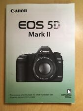 Canon EOS 5D Mark II Instruction Owners Manual 5D II Book NEW