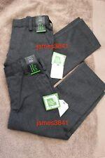 2x Boys Grey School Uniform Adjustable Teflon FLAT FRONT TROUSERS Next 3 yrs NEW