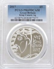 2017 Royal Mint King Canute UK £5 Five Pound Silver Proof Coin PCGS PR69 DCAM
