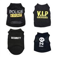 Dog Black Pet Puppy T-Shirt Summer Top Vest Clothes Coat Apparel Costumes Warmer