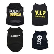 Dog Black Pet Puppy T-Shirt Summer Top Vest Clothes Coat Apparel Costumes Warmer