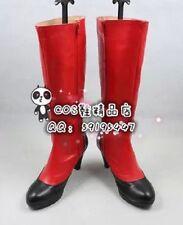 Black Butler Kuroshitsuji Madam Red Red Long Cosplay Shoes Boots X002