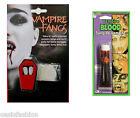 Halloween Cremallera Maquillaje Disfraz Vampiro Colmillos dientes sangre falsa