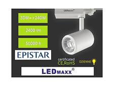 LED-MAXX Spot 3-Phasen Strahler weiß 24° 30W Schiene Leuchte 230V