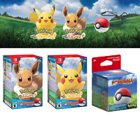 Nintendo Switch Pokemon Let's Go Pikachu & Eevee Edition Game w/ Poké Ball Plus