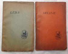 EO Envoi PIERRE LOUŸS : LÊDA 1893 & ARIANE 1894 lot de 2 plaquettes rares