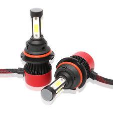 1Pair 9004 HB1 4-Sides COB LED Headlight Kit 72W 16000LM White Bulb Hi-Lo Beam
