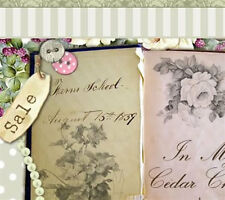 Shabby Vtg Chic White Roses Victorian Ebay Compliant Listing Auction Template