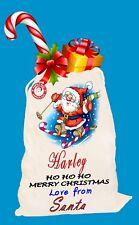Personalisiert Fröhliche Weihnachten Geschenk Weihnachtsmann Beutel Strumpf