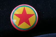 "Kurdistan Workers Party Communist 1"" Badge Pin Button Kurdish Iraq Turkey PKK"