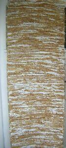 60 x 180 cm Large Boho Cream Natural Brown Colour Woven Chindi Rag Rug Runner