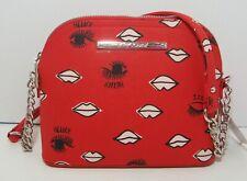 Betsey Johnson Lips Eyes Crossbody Purse Red Vegan Leather