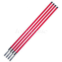 4 Pcs Steel A3 Two Way Guitar Truss Rod Stick 440mm for Luthier Supply Red