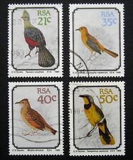 SOUTH AFRICA 1990 Birds. Complete set of 4 stamps. Fine postally used
