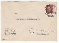 Brief 1952 Schuhfabrik Fritz Feinbier Saalfeld Saale nach Löbau !