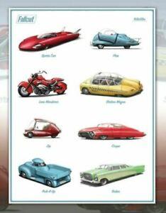 Fallout Vehicles of Fallout Fusion Flea Wanderer Poster Print Art 18x24 Mondo