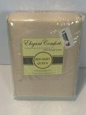"""Elegant Comfort 1500 Thread Count Bed Skirt Queen 60"""" X 80"""" + 14"""" Drop Tan"""