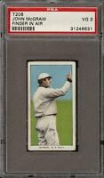 1909-11 T206 HOF John McGraw Finger In Air Piedmont 150 New York PSA 3 VG
