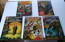 Bronze Age Comic Book Lot. Marvel Comics Sgt.Fury #75 - #79. 1970 15 Cent Set
