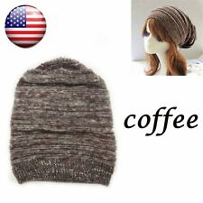 3X  Unisex Mens Womens Knit Baggy Beanie Beret Hat Winter Warm Oversized Ski Cap
