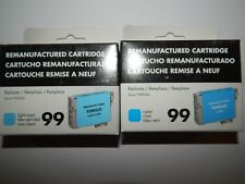 Epson T099220 99520 Compatible LIGHT & CYAN 99 Inkjet Cartridge REMANUFACTURED