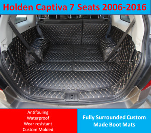 Holden Captiva 7 seats 2006- 2016 Custom Made Trunk Boot Mats Liner Cargo Cover
