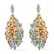 Paraiba Apatite  Earrings in 14K Gold Overlay Sterling Silver 2.500 Ct.
