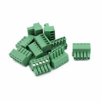 10Pcs 300V KF2EDGK 3.5mm Pitch 5-Pin PCB Screw Terminal Block Connector
