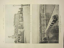 1898 PRINT ~ ASSASSINATION OF EMPRESS OF AUSTRIA QUAY DU MONT BLANC GRAND HOTEL