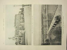 1898 PRINT ~ ASSASSINATION OF EMPRESS OF AUSTRIA QUAY DU MONT BLANC GRAND HOTEL