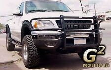 FITS FORD F150 1997-2003 G2 TEXTURED BLACK POCKET RIVET STYLE FENDER FLARES