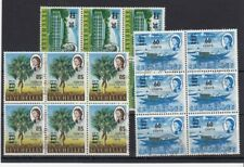 Seychelles 1968 surcharges SG246-248 used blocks x6