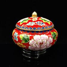 Chinese Antique Cloisonne Red Flowers Pattern  incense burner  JTL035