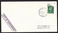 KGVI GB stamp on 1952 Cristobal Canal Zone Paquebot cover City Birkenhead ship