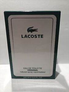 LACOSTE ORIGINAL BY LACOSTE 3.3OZ/100ML EAU DE TOILETTE SPRAY NEW IN BOX RARE