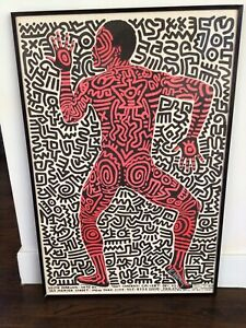 RARE SIGNED KEITH HARING INTO 84  POSTER BOUGHT FROM ARTIST