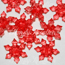 20 Red Snowflake Beads 29mm Acrylic for Bubblegum Necklace Craft Jewelry Kid