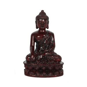 Thai Oriental Red Resin Lucky Buddha (B) - Good Luck, Wealth & Happiness