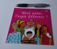 WHAT MAKES PEOPLE DIFFERENT? Usborne Pocket Science 2002 KIDS ILLUSTRATED Book