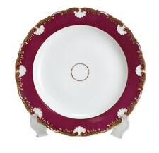 Meissen Porcelain Scallop Rimmed Dinner Plate, circa 1900. Maroon & Gilt