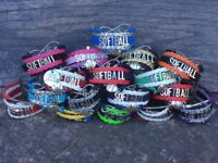 Girls Softball Bracelet, Softball Jewelry, Fastpitch Gift for Players & Teams
