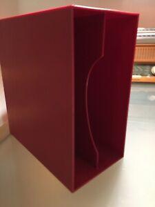 LP Vinyl Archiv Box,Schallplatten Aufbewahrungsbox, schwarz, unterteilt