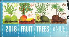 NIUE - 2018 - Miniature Sheet: Fruit Trees of Niue. Mint NH