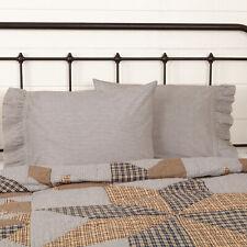 Vhc Brands Farmhouse Standard Ticking Stripe Pillow Case Set of 2 Bedroom Decor