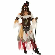 Voodoo Priestess Plus Size Costume Womens Conjure Skeleton Halloween Witch