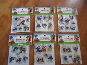 Hard to Find Vintage Puffy Smurf Stickers Party Favors U Pick NOT a LOT NOS