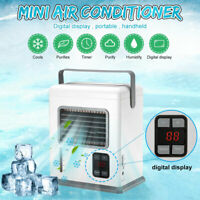 Timer Portable USB Mini Air Conditioner Water Cooling Fan Humidifier Purifier
