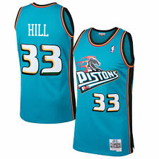 NBA Detroit Pistons Grant Hill Hardwood Classics Road Swingman Jersey Shirt Mens